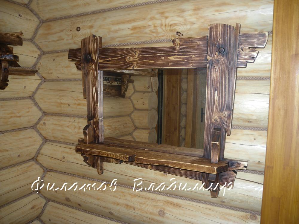 Рама из досок для зеркала 188