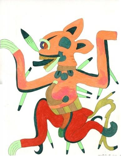 Набросок к картине Ацтекские воины