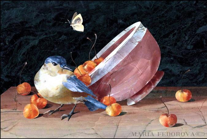 натюрморт с птицей.