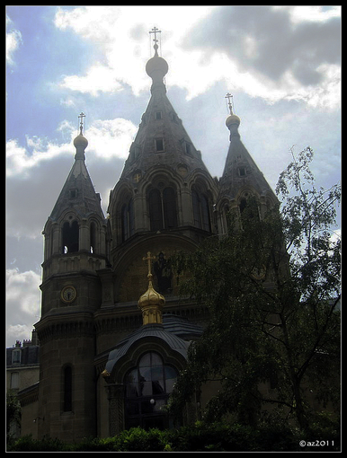 Собор Александра Невского в Париже.