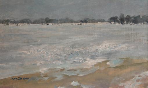 Замёрзший залив. 2010. 50х30 см.