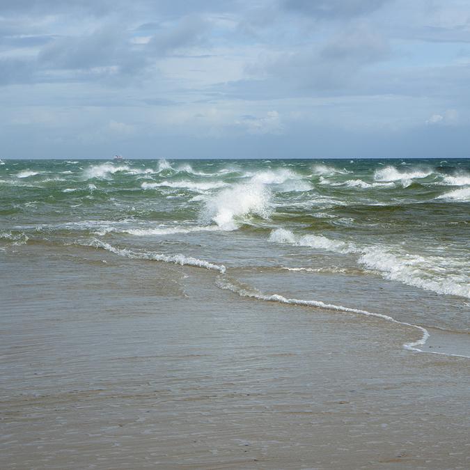 Встреча Северного и Балтийского моря. Скаген. Мыс Гренен