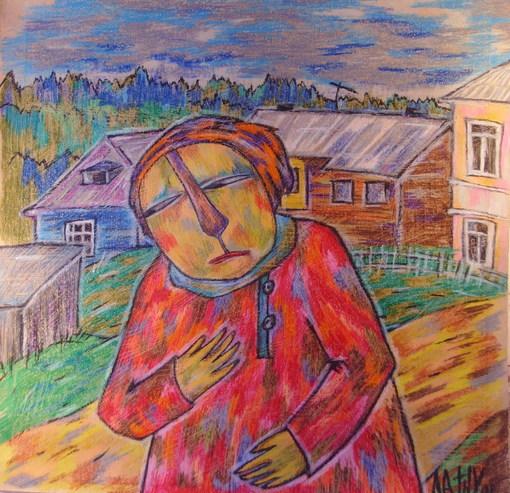 Соловки, 2008г.восковые карандаши, бумага - ЛАРИСА ШУНИНА.jpg