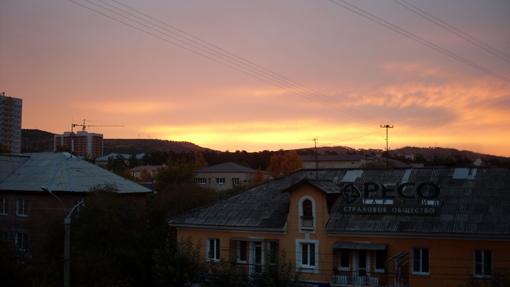 Рассвет из окна :)