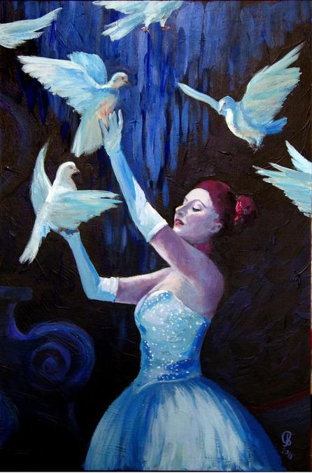 дрессировщица голубей