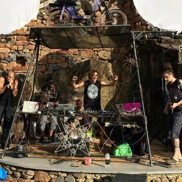 AJJA & GOATIKA @ TRIPPY TRAIL PARTY, March, 2nd, 2015. Goatika Creative Lab