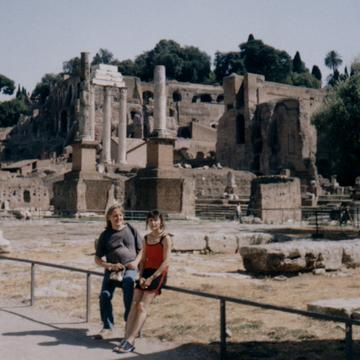 В Италии с Марианной Андрей Костин