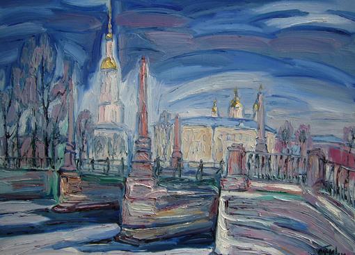 Колокольня Николы Морского.   The bell tower of St. Nicholas Marine.