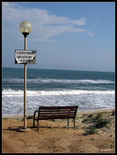 апрельская скамейка.из папки Море и другая вода.