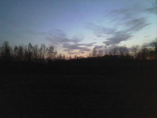 Закат в октябре 2